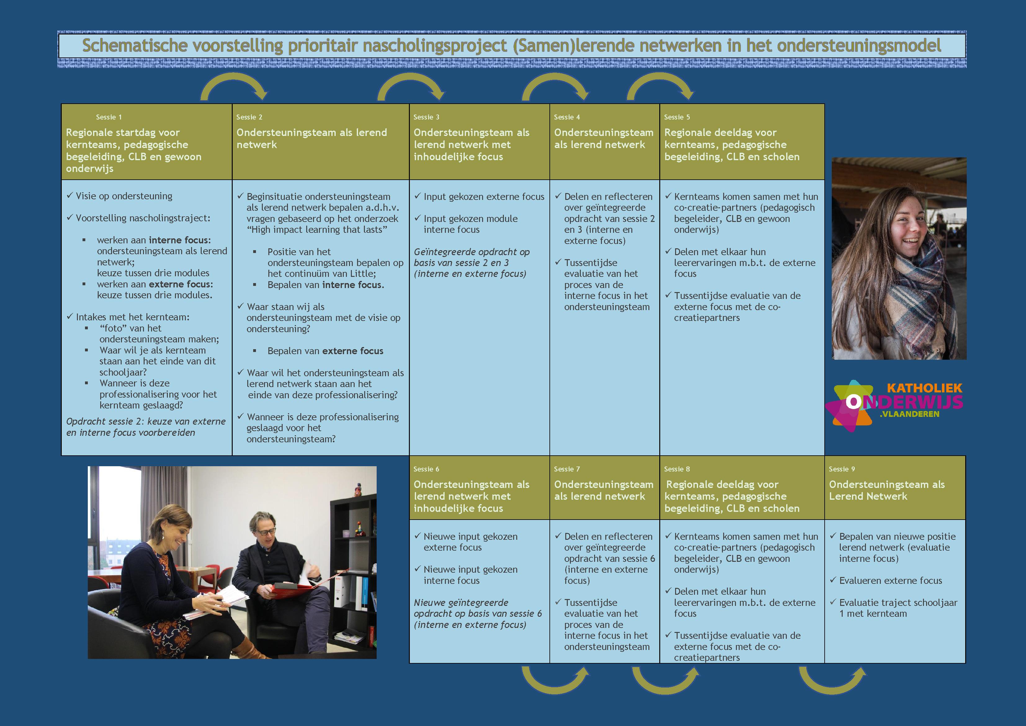 Schema verschillende sessies professionalisering